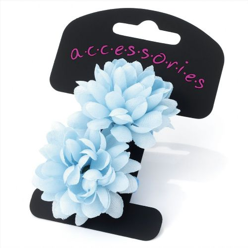 Chrysanthemum Flower Mini Hair Ponios Bobbles